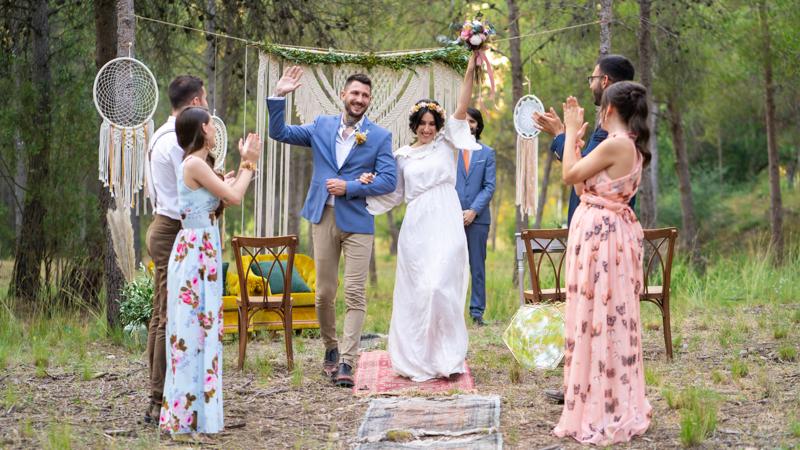 fotos de boda boho chic